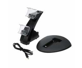 1 st Dual USB Handvat Fast Charging Dock Station Stand voor PS4 Controller <br />  ALLOYSEED