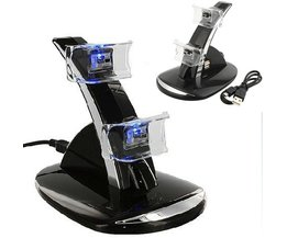 led licht dual usb charging dock standhouder ondersteuning charger voor sony playstation 3 ps3 controller game accessoires <br />  GAOCHENG