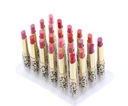 24 Stks/set 12 Kleuren Matte Lippenstift Waterdichte Langdurige Hydraterende Lip Stick Rouge Make Cosmetische Lip Make Up Tool <br />  abody