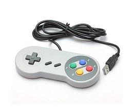 Voor SNES Retro Stijl Super Klassieke USB Gamepad Joystick Voor Nintendo voor Windows PC voor MAC Controllers <br />  ShirLin