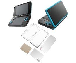 Transparante Beschermhoes Case + LCD Film Screen Protector voor Nintendo2DS XL <br />  ALLOYSEED
