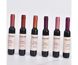 6 stks/set Wijnrood Waterdichte Matte Lipgloss Langdurige Lipgloss Bevochtig Lip Tint Cosmetische Vloeibare Lipstick Lip <br />  LEARNEVER