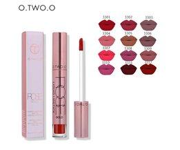 O. TWEE. O 12 stks/partij Vrouwen Sexy Waterdichte Vloeibare Lipstick Matte Gladde Lipstick Lipgloss Langdurige Zoete meisje Lippen Make <br />  O.TWO.O