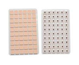 600 Stks/partij Acupunctuur Naald Oor Vaccaria Zaden Oor Massage Ontspanning Oren Stickers Auricular-paster Druk Zaden Groothandel <br />  KuZHEN
