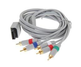 1080 P Component Kabel HDTV AV Audio Video Adapter 5RCA Kabel Koord Draad voor Nintendo Wii<br />  ALLOYSEED