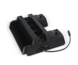 Verticale Stand Beugel + Koelventilator + Disk Opslag Toren + Dual Controller Charger Houder Multifunctionele Voor PS4 Slim/Pro <br />  ANENG