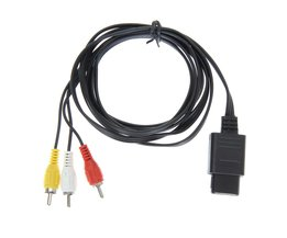 180 cm 6FT AV TV RCA Video Cord Kabel voor Game cube/voor SNES GameCube/voor Nintendo voor N64 64 Groothandel prijs <br />  ALLOYSEED