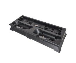 Ps4 slanke verticale stand + dual koelventilator + dual controller laadstation en 3 extra usb-poort voor playstation 4 s game consol <br />  SPAYPS