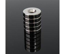 10 Stks 20x5mm Gat 5mm N50 Ronde Magneet Zeldzame Aarde Neodymium Permenent Magneet 20mm x 5mm Verzonken Circulaire Magneten <br />  ELDOER
