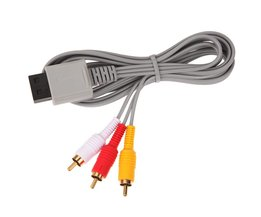 Generieke 1.8 m Audio Video vergulde AV Composiet 3 RCA Kabel voor Nintendo Wii L3FE <br />  ALLOYSEED