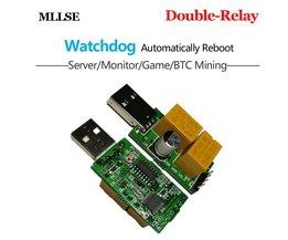 Watchdog Card USB/Computer/Onbeheerd Automatische Herstart van Blauw Screen/Death/Mijnbouw/Game/Server/Mijnwerker <br />  MLLSE
