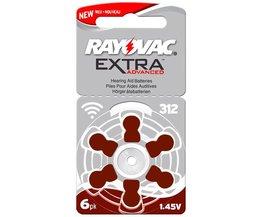 60 stks/10 card Rayovac Extra 1.45 V Prestaties Hoortoestel Batterijen. zink Air 312/A312/PR41 Batterij voor CIC hoortoestellen <br />  RAYOVAC