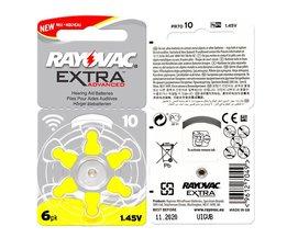 60 STKS  EXTRA Zink Air Prestaties Gehoorapparaat Batterijen A10 10A 10 PR70 Gehoorapparaat Batterij A10<br />  RAYOVAC