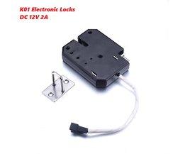 Professionele K01 Deurslot DC 12 V mini Solenoid Elektromagnetische Elektrische Controle Kast Lade Slot Elektronische Sloten 80*60*13mm <br />  MyXL
