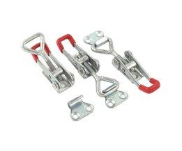 CNIM3 STKS Toolbox Case Metal Toggle Klink Catch Sluiting 9.5 cm Lengte Zilver + Rood <br />  WOLFHEAD