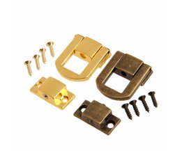 1 St 25x20mm Antiek Brons/Gouden Doos Hasps Metalen Slot Vangst Vergrendelingen voor Sieraden Borst Box koffer Gesp Sluiting Vintage Hardware <br />  DRELD