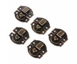 10 stks antieke bronzen box hasps iron lock vangst vergrendelingen voor sieraden borst box koffer gesp clip sluiting vintage hardware 27*29mm <br />  DRELD
