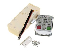 Zilver Metalen Digitale Elektronische Wachtwoord Toetsenbord Aantal Kast Code Sloten Intelligente Kast Lock <br />  MyXL