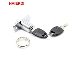 105-23 Plunger Push Lock Met 2 Sleutel Voor Glazen Schuifdeur Showcase Lock Meubels Kast Lock 23mm Dikte Hardware <br />  NAIERDI