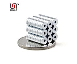 200 stks Sterke Ring 5x1.5mm met gat magneten Dia 5mm x 1.5mm N50 Neodymium Magneet zeldzame Aarde