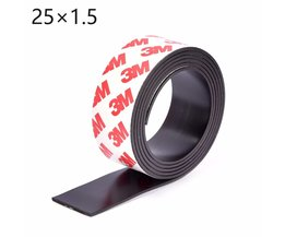 1 Meter zelfklevende Flexibele Magnetische Strip 3 M Rubber Magneet Tape breedte 25mm dikte 1.5mm25*1.5