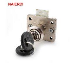 NAIERDI Hardware 101 Iron Ladeblokkering Meubilair Bureau Kast Locker Lock 16mm Lock Core 22 Dikte Met Twee toetsen