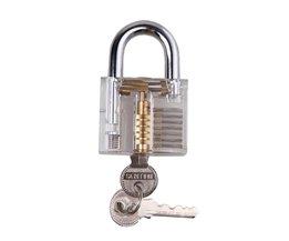 Professionele Lock picks Set LockPicks Hangslot Transparante Praktijk lock Voor Deur Met Sleutel