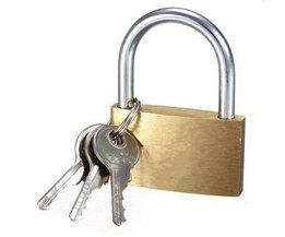 MTGATHER Messingshangslot Lange Sluiting Reizen Bagage/Koffer/Gate 3 Keys Lock Beveiliging Duurzaam Ongeveer 20x30.5x7mm