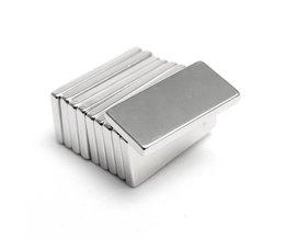 Hakkin 5 Stks Super Sterke Neodymium Magneet Blok Cuboid Zeldzame Aarde Magneten N35 20x10x2mm