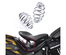 "2 STKS Motorfietsen Solo Seat 3 ""Inchs Springs Beugel Montage Voor Harley Chopper Bobber"