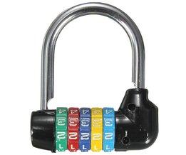 Zinklegering 5 Dial Digit Nummer Combinatie Reizen Security Veilig Code Wachtwoord Lock Combinatie Hangslot Ca. 66x66x20mm