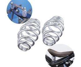 "3 ""Chrome Barrel Opgerolde Solo Seat Springs Voor Harley Chopper Bobber Motorfiets"
