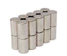 Koop 20 stks N50 Super Sterke Ronde Cilinder Magneten 10mm x 15mm Zeldzame Aarde Neodymium Magneet