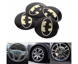 4 Stks Auto Center Sticker Auto-Styling Steering Wiel Center Hub Cap Emblem Decal Stickers Wiel Dust-proof Sticker