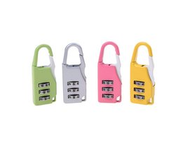 JETTING 1 STKSZinklegering Beveiliging 3 Combinatie Reiskoffer Bagage Code Lock Hangslot Willekeurige Kleur