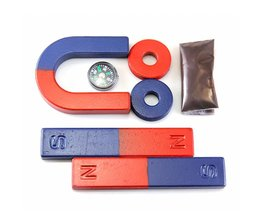 1 set Isotrope Ferrietmagneet Kit voor Onderwijs Science Experiment BAR + HOEFIJZER + RING MAGNEET kids speelgoed
