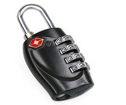 Zwart Effen 4 Digitale TSA Combinatie Hangslot voor Bagage Koffers