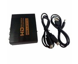 Full HD 1080 P HDMI naar AV Video Converter S-video/CVBS/RCA uit HDMI met Plug Compatibel met HDCP Protocol