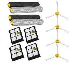 2 set Wirwar Puin Extractor Borstel + 4 Hepa filter + 4 side borstel voor iRobot Roomba 800 900 Series 870 880 980