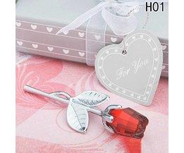 Kristallen roos in geschenkverpakking