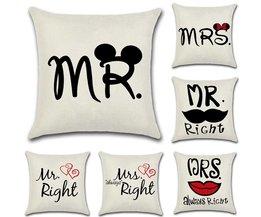 Kussen Mr. & Mrs.