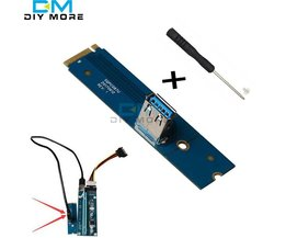 M2 NGFF PCI-e X16 Slot voor Data Mining Transfer Card Riser VGA Extension adapter
