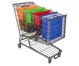 Opvouwbare Boodschappentas voor winkelwagen