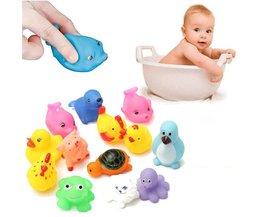 13 stuks Rubberen Squeeze Badspeelgoed baby