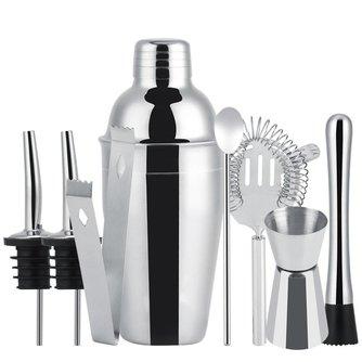 8 stks 550 ml Rvs Cocktail Shaker Set Mixer Bar Drinken Barman Tool Huisbrouwerij Bar Accessoires