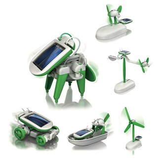 6-in-1 Mini Solar Robot Kit Leerzaam Bouwpakket