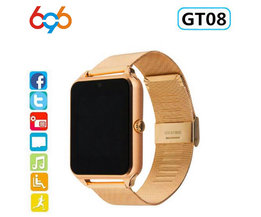 696 Smart Horloge GT08 Plus Metalen Band Bluetooth Pols Smartwatch Ondersteuning Sim TF Card Android & IOS Horloge Multi- talen PK S8 Z60