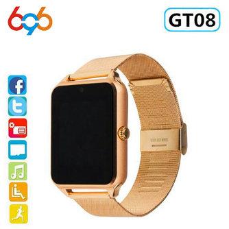 696 Smart Horloge GT08 Plus Metalen Band Bluetooth Pols Smartwatch Ondersteuning Sim TF Card Android & IOS Horloge Multi- talen PK S8 Z60