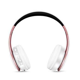 Gratis verzendingGoud kleuren Bluetooth Hoofdtelefoon Draadloze Stereo Headsets oordopjes met Microfoon/Tf-kaart