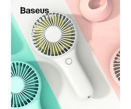 Baseus Mini USB Ventilator Draagbare Handheld Ventiladors Oplaadbare Ingebouwde Batterij 1800 mAH Handy Air Koelventilator Voor Outdoor Home